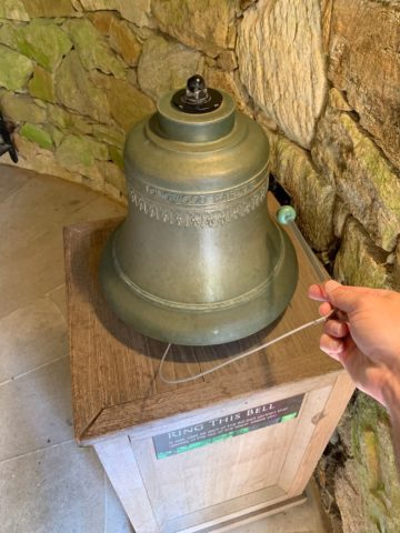 You can ring this carillon bell at Longwood Gardens