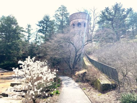 Chimes Tower at Longwood Botanical Gardens is a 61-foot-tall carillon tower.