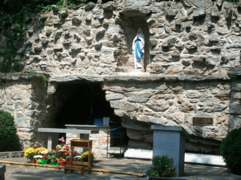 lourdes shrine grotto