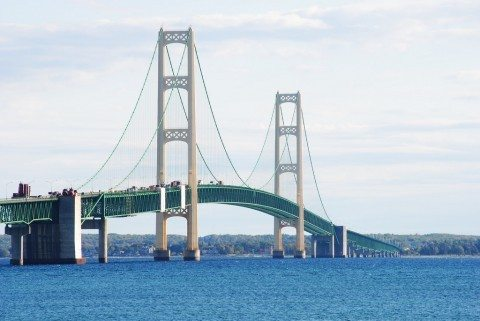Mackinac Bridge in Michigan is one of the most famous bridges in America