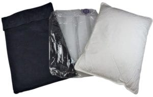 The MinnEzzz inflatable travel pillow - similar to the best travel pillow I bought
