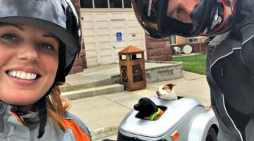 What It's Like Motorcycling With Dogs: See How We Ride Motorcycles With 2 Large Dogs In 1 Custom Motorcycle Dog Trailer