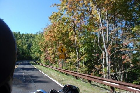 Our beautiful motorcycle ride near the Tail of the Dragon on our first long distance motorcycle trip. photo by Lynnette at TheFunTimesGuide.com
