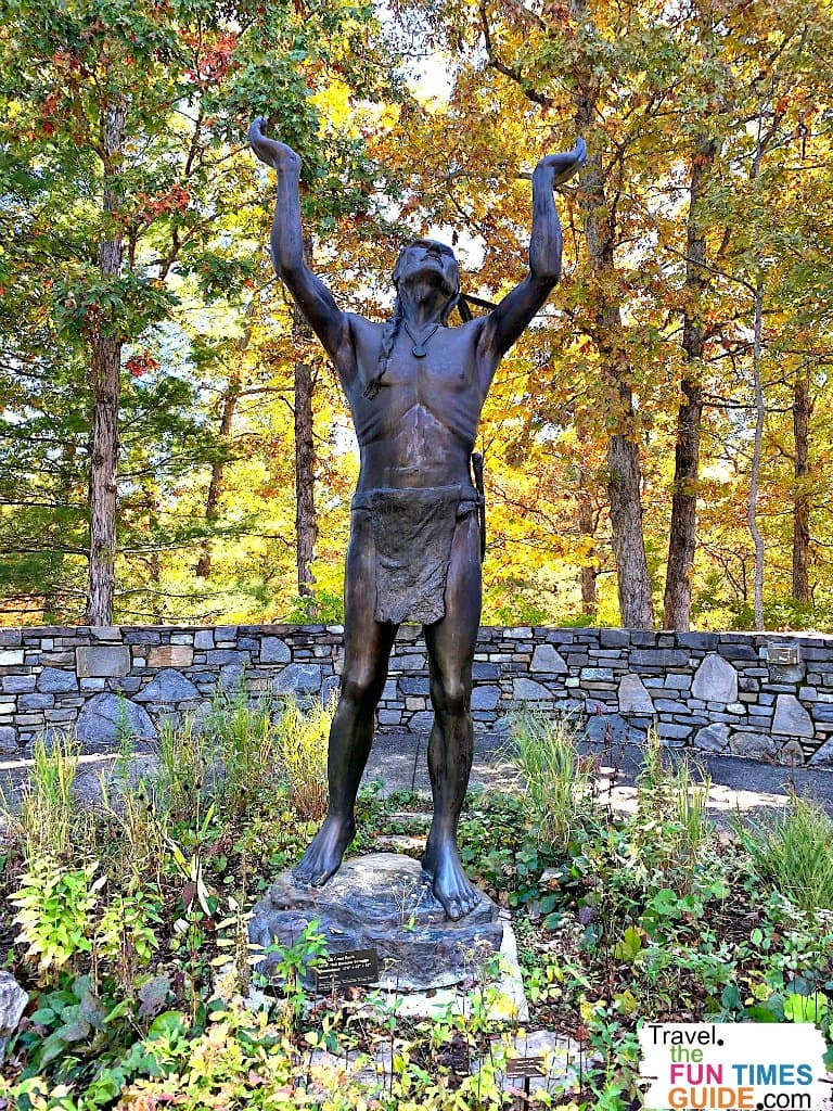 This statue greets visitors at the entrance to the North Carolina Arboretum.