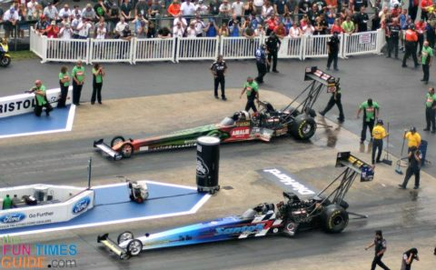 Our favorite NHRA drag racer, Terry McMillen reaches between 3 and 3.5 Gs in his Top Fuel drag racing car
