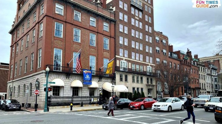 The Original Cheers bar in Boston can be found at 84 Beacon Street north of Boston Public Garden.