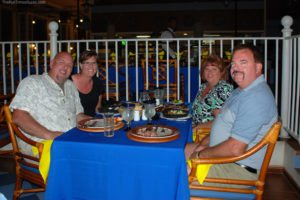 Dinner with our friends at Nautilus - one of the many restaurants on-site at the Riu Palace. This night was lobster!