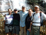 Randy - far right - along with some friends at Ruby Falls.