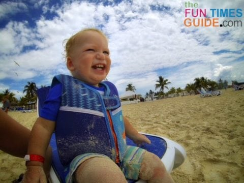 Baby swimsuit - we like the Rashguard swimwear with UV protection built in