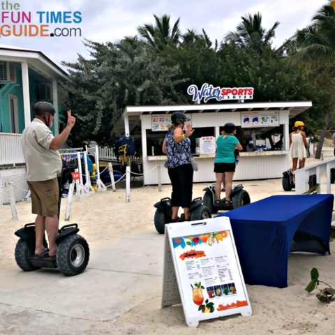 Cori caught a picture of Jim and I (the last 2 in the pic) riding our Segways on Blue Lagoon Island in the Bahamas.