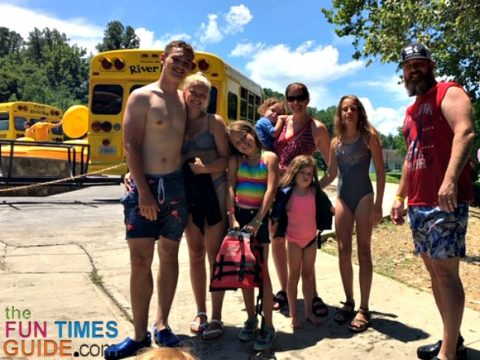 Some of our family members who enjoyed the day river tubing in Tennessee with Smoky Mountain River Rat.