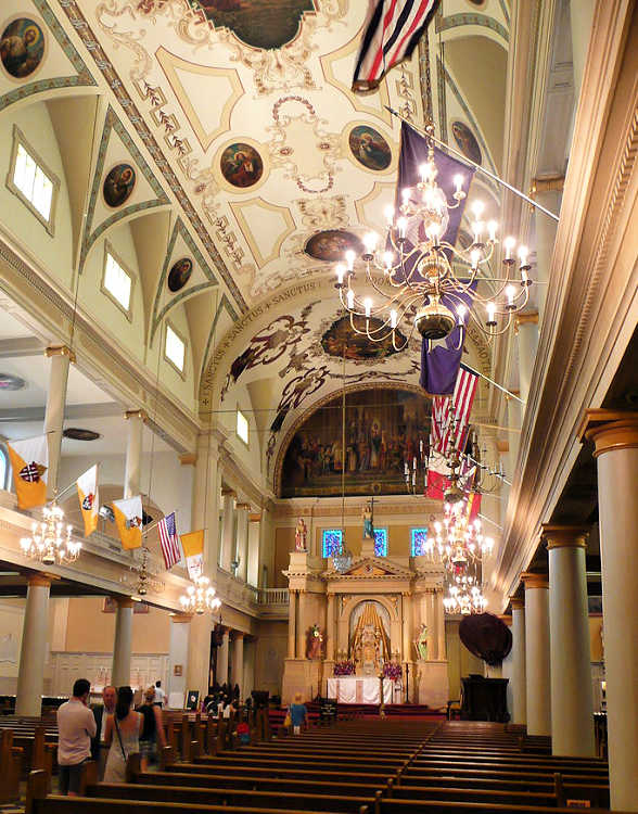 Self-guided and small group tours inside St. Louis Cathedral -- New Orleans, Louisiana.