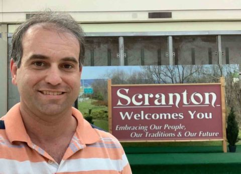 Welcome To Scranton Sign