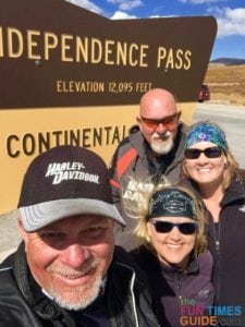 Independence Pass / Continental Divide with Kevin and Kay.