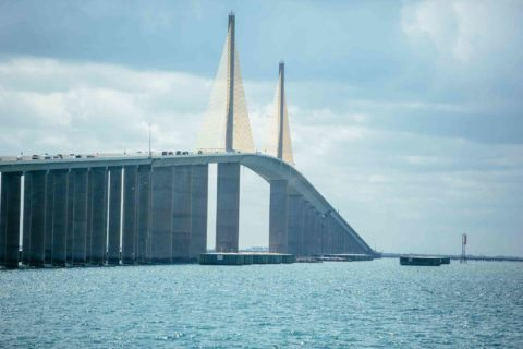 Sunshine Skyway Bridge in St. Petersburg Florida - fun attractions in florida