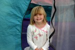 Sophie had her own tent on her first camping trip.