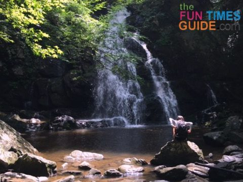 The hike (with time spent at the swimming hole and the falls) takes about 2 hours.