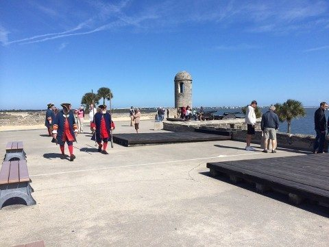 here we are visiting one of the best st augustine attractions at Fort Castillo de San Marcos