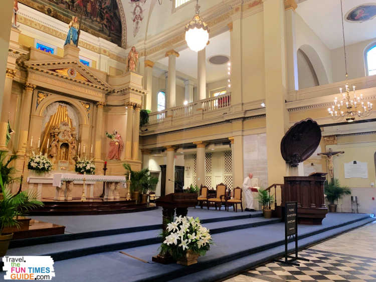 The altar at St. Louis Cathedral New Orleans.