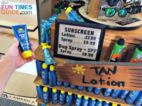 The River Rat Tubing store also sells sunscreen if you forgot yours!