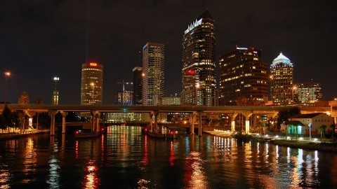 There are some really fun things to do in Tampa and it's especially pretty at night
