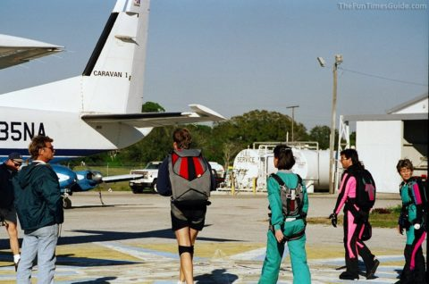 tandem skydiving - boarding the plane