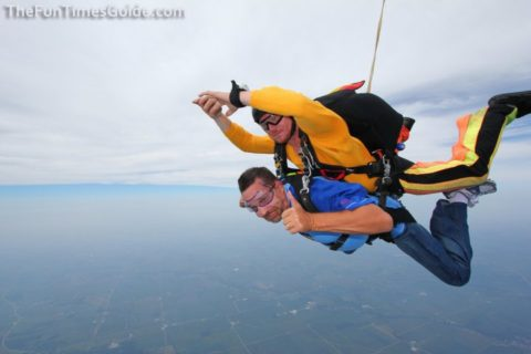freefall during a tandem skydive