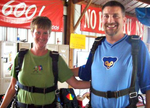 Tandem skydiving with my friend Kenny