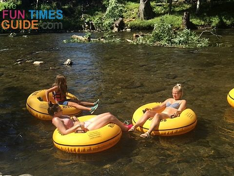 Tethers can be rented from River Rat Tubing - to tether 2 tubes together.