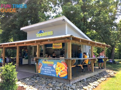 This is Toobers Cafe, the restaurant associated with River Rat Tubing.
