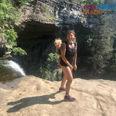 The view from the top of the Ozone Falls waterfall is both exhilarating and terrifying at the same time -- especially if you're uneasy about heights!
