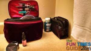 As you can see, I travel with both liquid argan oil and whipped argan oil. I use the whipped the most.