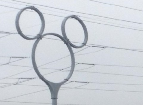 Disney's interpretation of a electrical pole in Florida