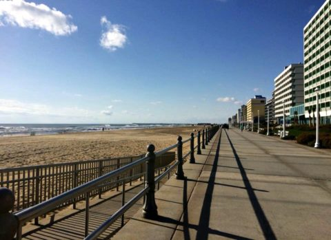 The Virginia Beach boardwalk