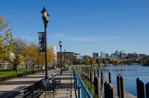The Wilmington Delaware Riverfront is a popular place to hang out and have fun... or catch the Riverfront Water Taxi.